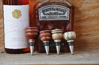 Turned bottle stoppers